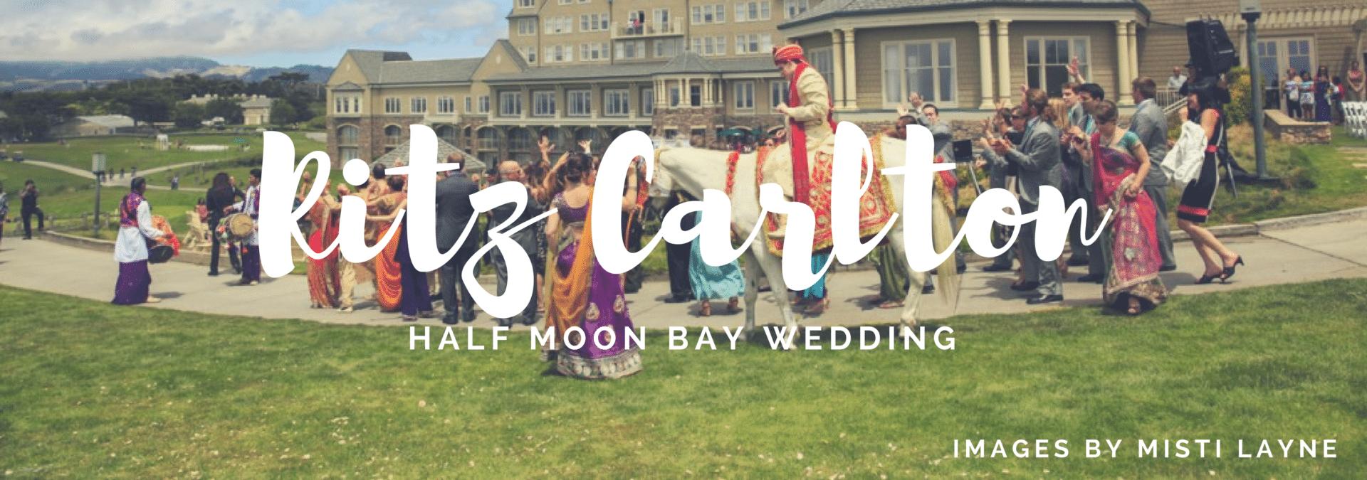 wedding at the ritz carlton half moon bay